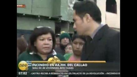 Estiman que 40 viviendas fueron afectadas tras incendio en el Callao