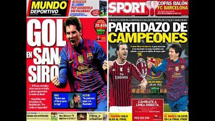 Así informa la prensa mundial sobre el Milan vs Barcelona por Champions