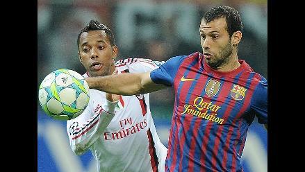Milan y Barcelona empataron 0-0 por cuartos de la Champions