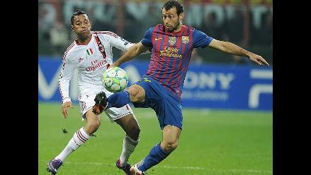 Reviva en imágenes el duelo entre el Milan y el Barcelona por Champions