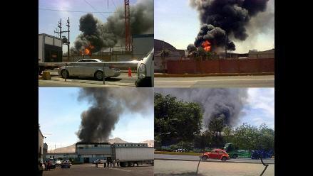 FOTOS: Incendio de grandes proporciones en Santa Anita