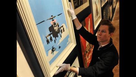 Seis obras de Banksy se vendieron en subasta en Londres