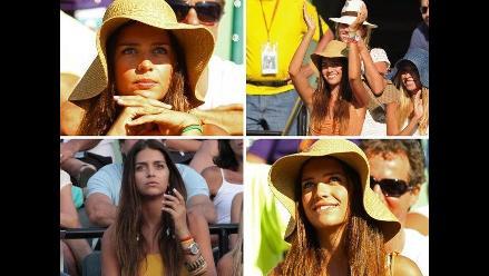 Masters de Miami: Zaira Nara apoya a Juan Mónaco e impone su belleza