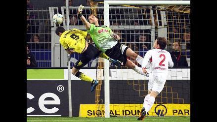 Borussia Dortmund empató 4-4 con el Stuttgart por la Bundesliga