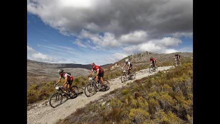 Prueba de ciclismo de montaña en Sudáfrica