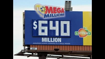 Tres se repartirán pozo de US$ 640 millones de lotería Mega Millions