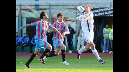 Milan no puede con Catania y suma dos empates en una semana