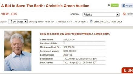 Christie´s subasta con Bill Clinton y Cameron Díaz por Día de la Tierra