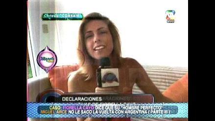 Fiorella Cayo justifica actitud de Miguel Arce frente a Natalia Otero