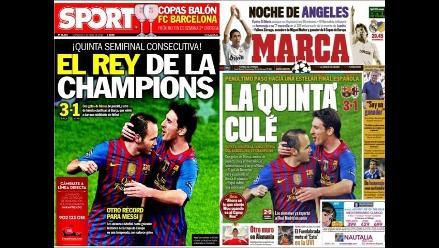Clasificación del Barcelona a semis de Champions es noticia en el mundo
