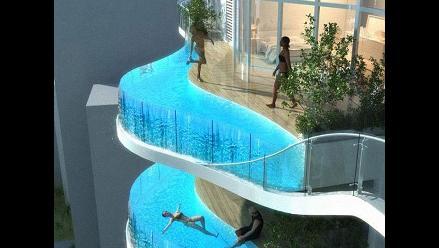 Construyen rascacielos con piscinas en vez de balcones