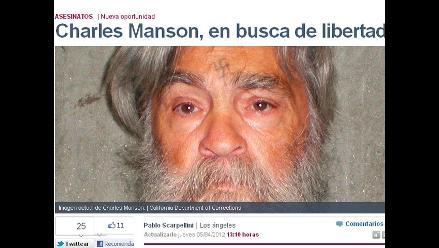 Criminal Charles Manson busca ser hombre libre
