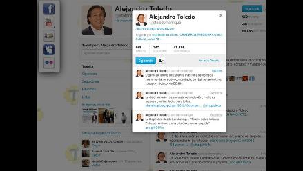 Toledo: Nunca más un régimen corrupto y violador de derechos humanos