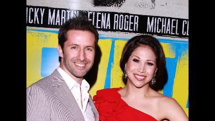 Marco Zunino asistió al estreno de Evita en Broadway