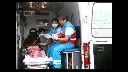 SAMU atendió a heridos por huaico en Chosica