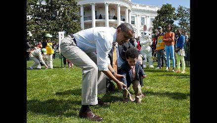 Barack Obama participó de Carrera de Huevos de Pascua en Casa Blanca
