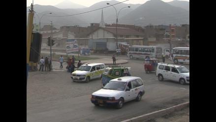 Tráfico en San Juan de Lurigancho debido a obras del Metro de Lima