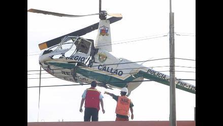 Gobierno Regional del Callao evalúa causas de accidente de helicóptero