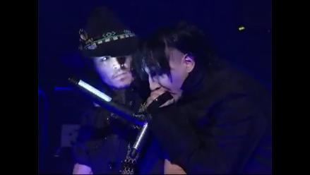Johnny Depp se sube al escenario junto a Marilyn Manson