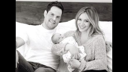 Hilary Duff compartió tierna fotografía junto a su esposo e hijo