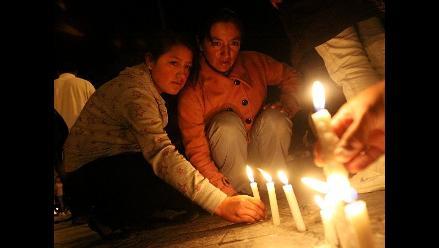Vigilia en la plaza mayor de Cajamarca contra proyecto minero Conga