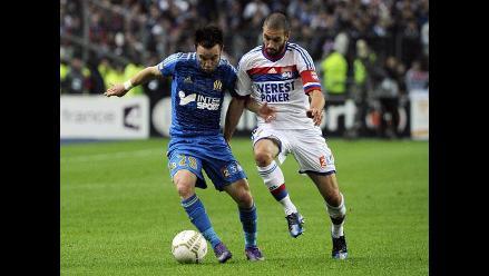 Olympique de Marsella venció 1-0 al Lyon y ganó la Copa de la Liga