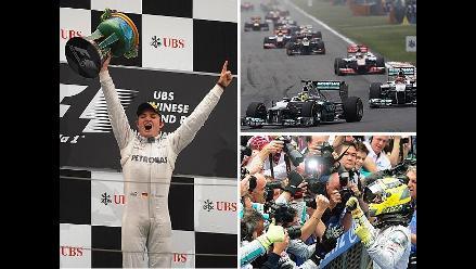 Imágenes de las incidencias del histórico triunfo de Nico Rosberg