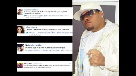 Artistas nacionales lamentan fallecimiento de Mc Francia