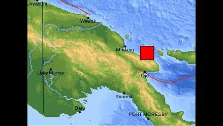 Fuerte sismo sacude este de Papúa Nueva Guinea