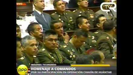 Congreso rinde homenaje a comandos Chavín de Huántar