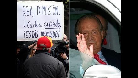 Rey Juan Carlos abandonó hospital en medio de polémica por caza