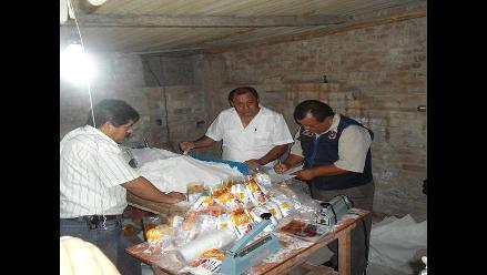 Lambayeque: Intervienen fábrica clandestina donde procesaban sal