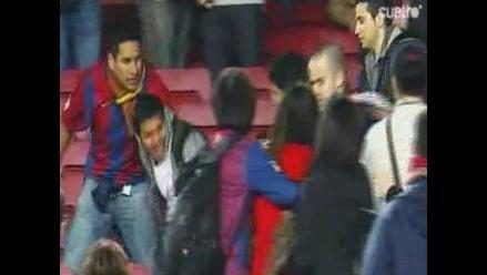 Hincha del Real Madrid fue agredido en el Camp Nou tras el derbi
