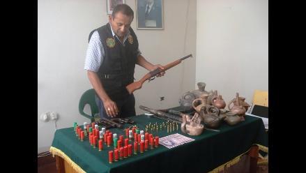 Trujillo: Armas de fuego, municiones y huacos hallan en discoteca
