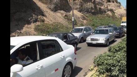Aniego originó congestión vehicular en Circuito de Playas