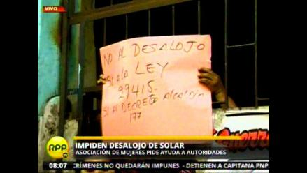 Guerreras de Barrios Altos piden no ser desalojadas de viviendas