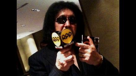 Gene Simmons saluda a RPP Noticias