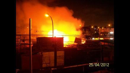 Reportan incendio en mercado de Chorrillos