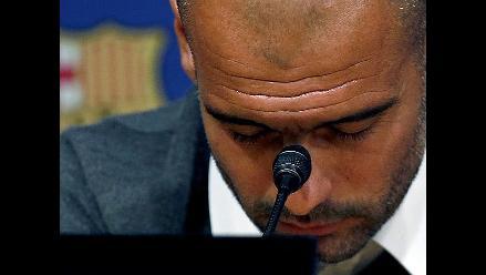 El adios de Guardiola: ´El tiempo lo desgasta todo...´