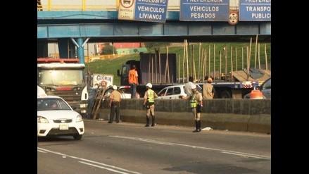 Obras en puente Balta generan caos vehicular en Via de Evitamiento