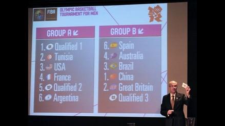 Conozca los grupos del torneo de baloncesto de los JJ.OO. de Londres