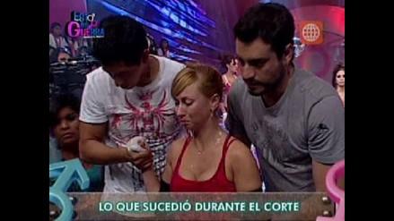 Belén Estévez sufre accidente en programa y se disloca el hombro