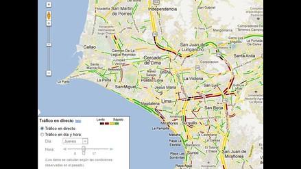 Ya se puede ver el tráfico de Lima en Google Maps