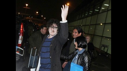 Charly García llegó a Lima a la medianoche