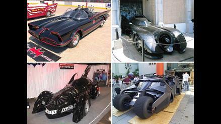 La evolución del Batimóvil en ocho películas de Batman