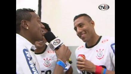 Peruano Luis Ramírez participó en festejo privado del Corinthians