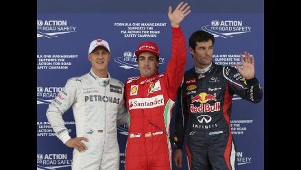 Fernando Alonso ganó clasificación en Silverstone tras para por lluvia