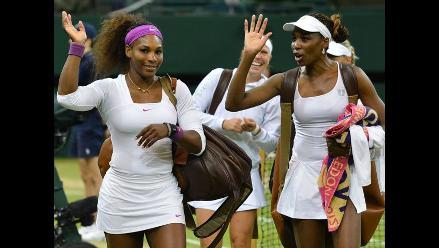 Venus y Serena Williams ganan título en dobles femeninos de Wimbledon