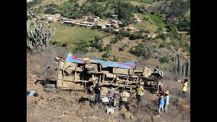 Seis muertos deja vuelco de bus en tramo Nazca-Puquio-Chalhuanca