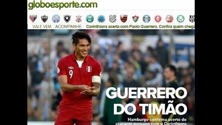 Paolo Guerrero es noticia mundial con su fichaje por el Corinthians